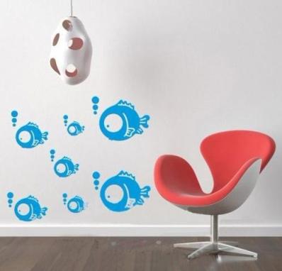 Blue-Fish-font-b-3D-b-font-DIY-Home-Decoration-font-b-Fashion-b-font-PVC