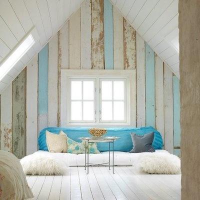 attic white blue